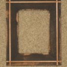 PRIMITIVE GROOVED WOOD PICTURE FRAME BLACK