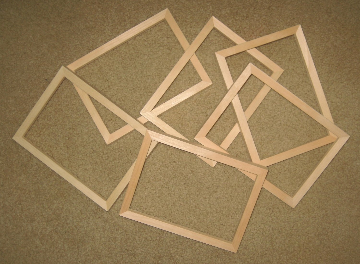 6 Unfinished 5x7 Picture Frames Narrow 189 Quot Molding No Knots