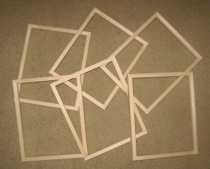 "6 UNFINISHED 8X10 PICTURE FRAMES  VERY NARROW ½"" MOLDING NO KNOTS"