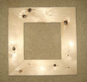 """Holey""  unfinished picture frame 6x6 wide moulding"