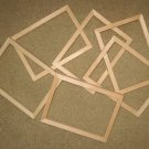 "6 UNFINISHED 5X7 PICTURE FRAMES QUALITY VERY NARROW ½"" MOLDING NO KNOTS"