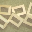 6 Unfinished  2x3 mini wood picture frames slim moulding New
