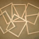 "Picture frames 6 unfinished 8x10 or 8x8's in a 5/8"" wide moulding"