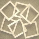 "Picture frames 6 unfinished 6x6's in a 5/8"" wide moulding"