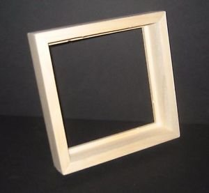 "Float, drop-in, front load unfinished 8x10 picture frame with 1¼"" deep rabbet"