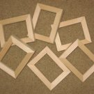 Wallet sized picture frames (6) Unfinished in 2.5 x 3.5 size