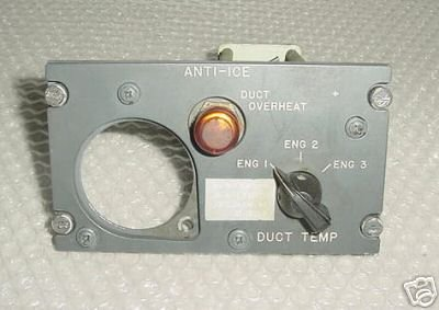 Boeing 727 Anti-Ice Cockpit Control Panel, 69-17525-1