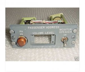 69-17316-2, Boeing 727 Passenger Address Control Panel