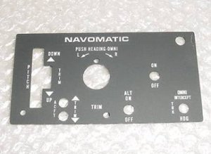 41515-1000, NEW Cessna / Navomatic Autopilot Faceplate
