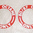 Aircraft Fuel Tank Placards, Self-Adhesive Decals