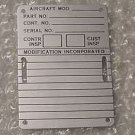 NEW!! Aircraft Name Plate, Data Plate, AN7510-2