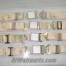 501301-401-2270, 9600-16, Set of Aircraft Seat Belts / Cream