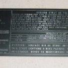 39244061, 3924406-1, McDonnell Douglas DC-8 Landing Gear Placard