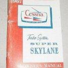Cessna Turbo Super Skylane Owner Manual