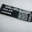 0510191, 0705004-1, Cessna Aircraft Placard / Decal