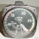 Antique WWII Warbird Multi Engine Tachometer Indicator, 740-CK