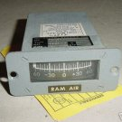 McDonnell Douglas DC-10 Ram Air Indicator w Serv tag, 72988H
