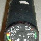 Turbine Aircraft Oil Pressure, Oil Temperature Indicator 162CPT6