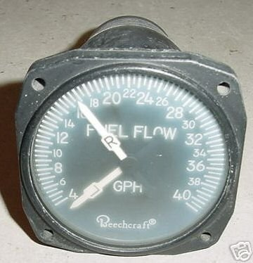 102-380004-1 Twin Beechcraft Baron Fuel Flow Indicator 5709-1006