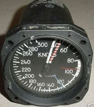 101-380068-5, 1535-05, Beech King Air Airspeed Indicator