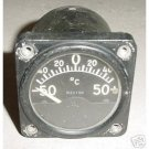 WWII Warbird Curtiss P-36 Hawk Temperature Indicator, 65-Y1