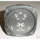 WWII Warbird Aircraft Oil Quantity Indicator, 8DJ20AFD