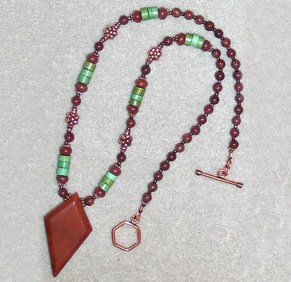 Chocolate Aventurine,Copper&Turquoise Necklace