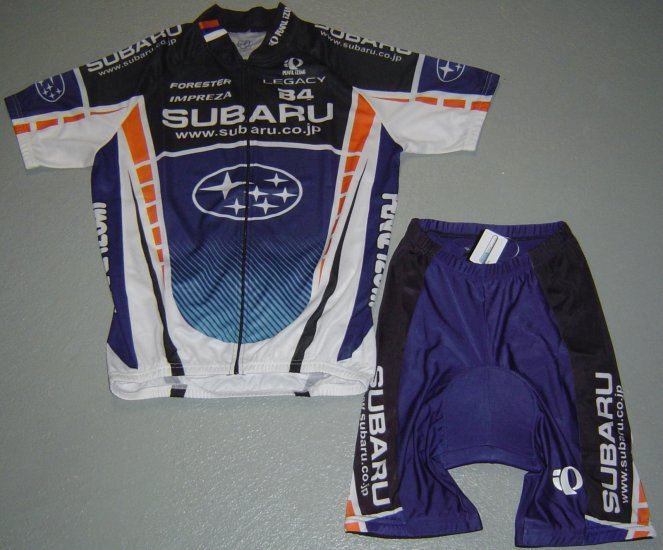 SUBARU TEAM JERSEY AND SHORTS KIT PEARL IZUMI SZ M