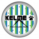KELME PRO CYCLING TEAM SILVER WALL CLOCK NEW (FREE SHIPPING!!)