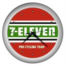 7-ELEVEN PRO CYCLING TEAM SILVER WALL CLOCK NEW (FREE SHIPPING!!)