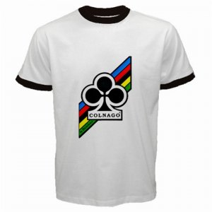 COLNAGO CYCLING CYCLE BIKE FRAME RINGER T-SHIRT SZ M (FREE SHIPPING WORLDWIDE!!)