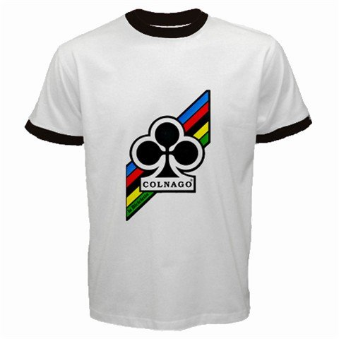 COLNAGO CYCLING CYCLE BIKE FRAME RINGER T-SHIRT SZ L (FREE SHIPPING WORLDWIDE!!)