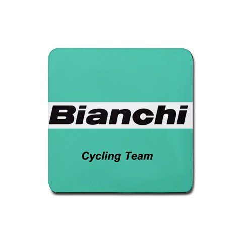 BIANCHI TEAM CYCLING DRINK COASTERS (SET OF 4!) NEW (FREE SHIPPING WORLDWIDE!!)