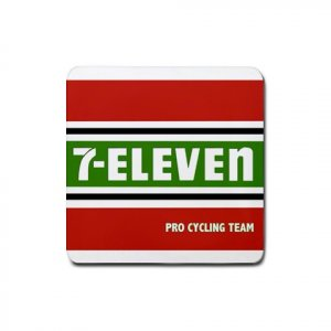 7-ELEVEN TEAM CYCLING DRINK COASTERS (SET OF 4!) NEW (FREE SHIPPING WORLDWIDE!!)