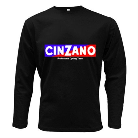 CINZANO PROFESSIONAL CYCLING TEAM LONG SLEEVE T-SHIRT SZ L (FREE SHIPPING WORLDWIDE!!)