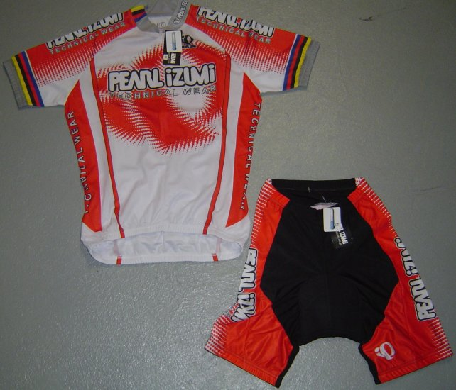 PEARL IZUMI UCI CYCLING JERSEY AND SHORTS KIT SZ XL