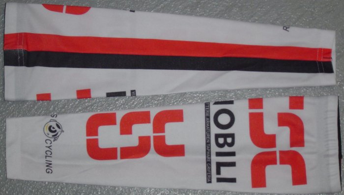CSC TEAM CYCLING CYCLE BIKE ARM WARMERS Sz S/M NEW