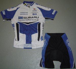 SUBARU CYCLING CYCLE BIKE JERSEY AND SHORTS KIT SZ XL