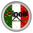 CINELLI CYCLING FRAME BAR TAPE SILVER WALL CLOCK NEW (FREE SHIPPING!!)