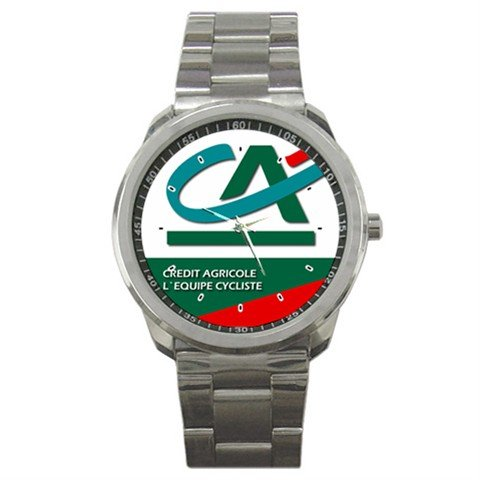 CREDIT AGRICOLE TEAM CYCLE CYCLING  WRIST WATCH NEW (FREE SHIPPING WORLDWIDE!!)
