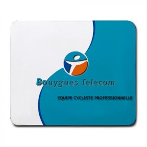 BOUYGUES TELECOM PRO CYCLING TEAM MOUSE PAD NEW (FREE SHIPPING WORLDWIDE!!)