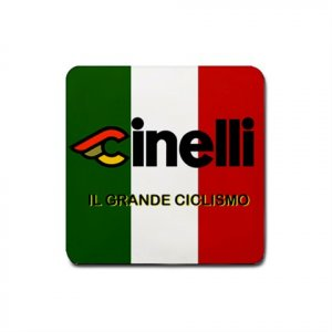 CINELLI CYCLING DRINK COASTERS ci (SET OF 4!) NEW (FREE SHIPPING WORLDWIDE!!)