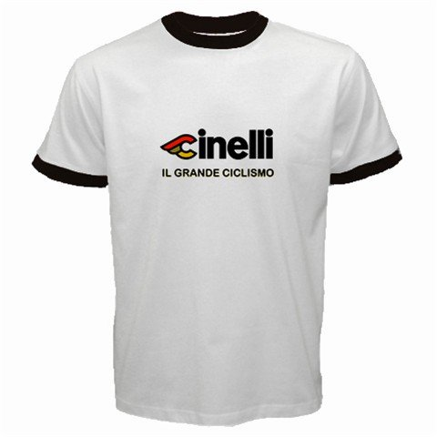 CINELLI IL GRANDE CICLISMO CYCLE BIKE FRAME RINGER T-SHIRT SZ S (FREE SHIPPING WORLDWIDE!!)