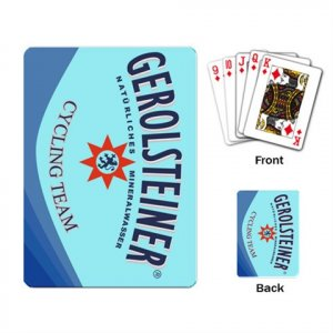 TEAM GEROLSTEINER CYCLING CYCLE DECK PLAYING CARDS NEW (FREE SHIPPING WORLDWIDE!!)