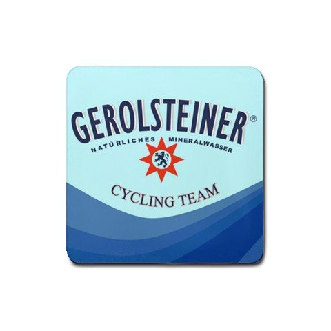 GEROLSTEINER TEAM CYCLING DRINK COASTERS (SET OF 4) NEW (FREE SHIPPING WORLDWIDE!!)