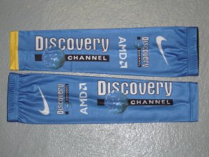 DISCOVERY CHANNEL CYCLING TEAM ARM WARMERS Sz L/XL NEW
