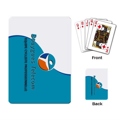 BOUYGUES TELECOM TEAM CYCLING CYCLE DECK PLAYING CARDS NEW (FREE SHIPPING WORLDWIDE!!)