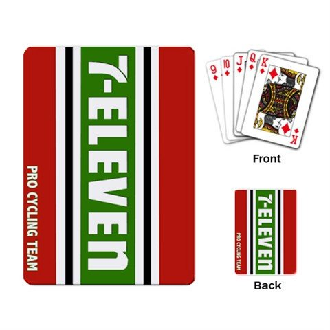 TEAM 7-ELEVEN CYCLING CYCLE BIKE DECK PLAYING CARDS NEW (FREE SHIPPING WORLDWIDE!!)