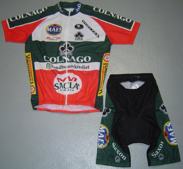 COLNAGO LANDBOUWKREDIET CYCLING JERSEY AND SHORTS SZ L
