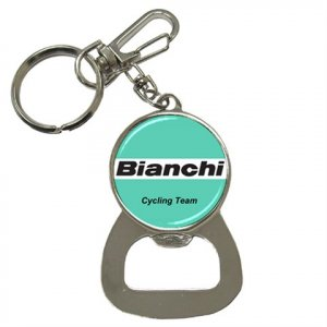 BIANCHI TEAM BOTTLE OPENER KEY CHAIN CYCLING NEW (FREE SHIPPING WORLDWIDE!!)